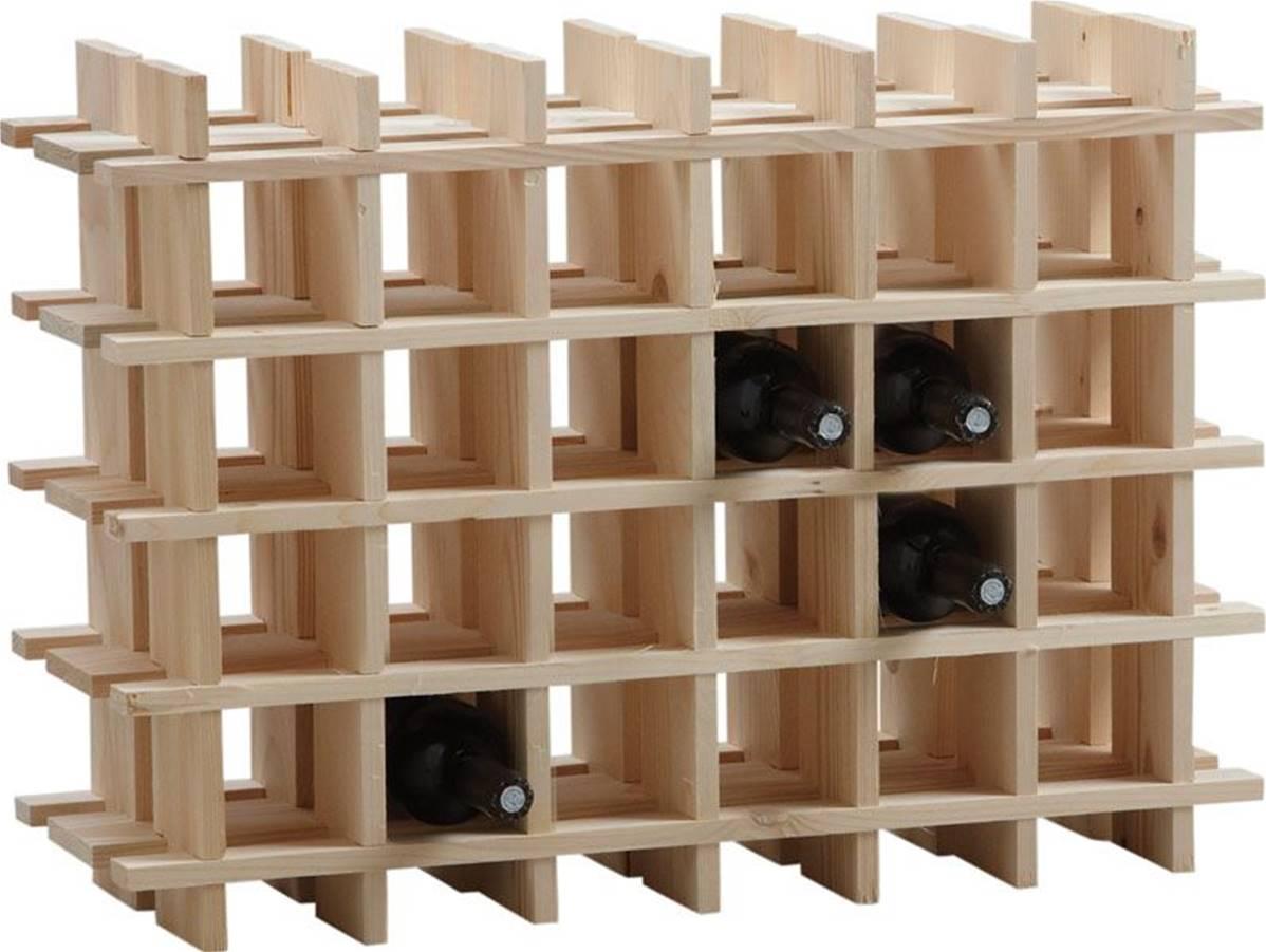 Rangement Pour Le Bois casier en bois pour rangement de 24 bouteilles de vin