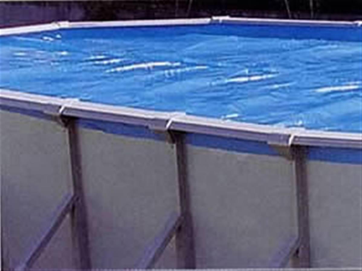 Bache thermique 8 micron 8.8 x 8.80 metres pour piscine hors sol