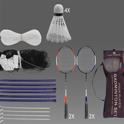 4PC Set de badminton raquettes formation volants ball Sports Jeux de qualité moyenne