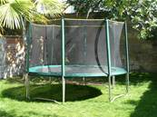 Trampoline Booster 360 cm avec filet de protection + echelle