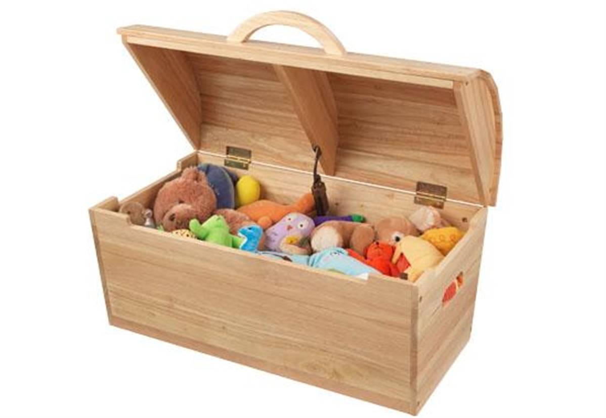 Coffre en bois - malle de rangement pour jouets