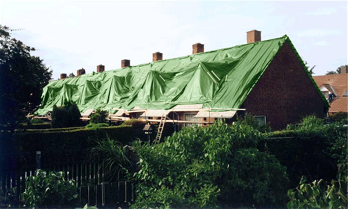 bache de protection pour toiture et toit 12x8 m 100% impermeable