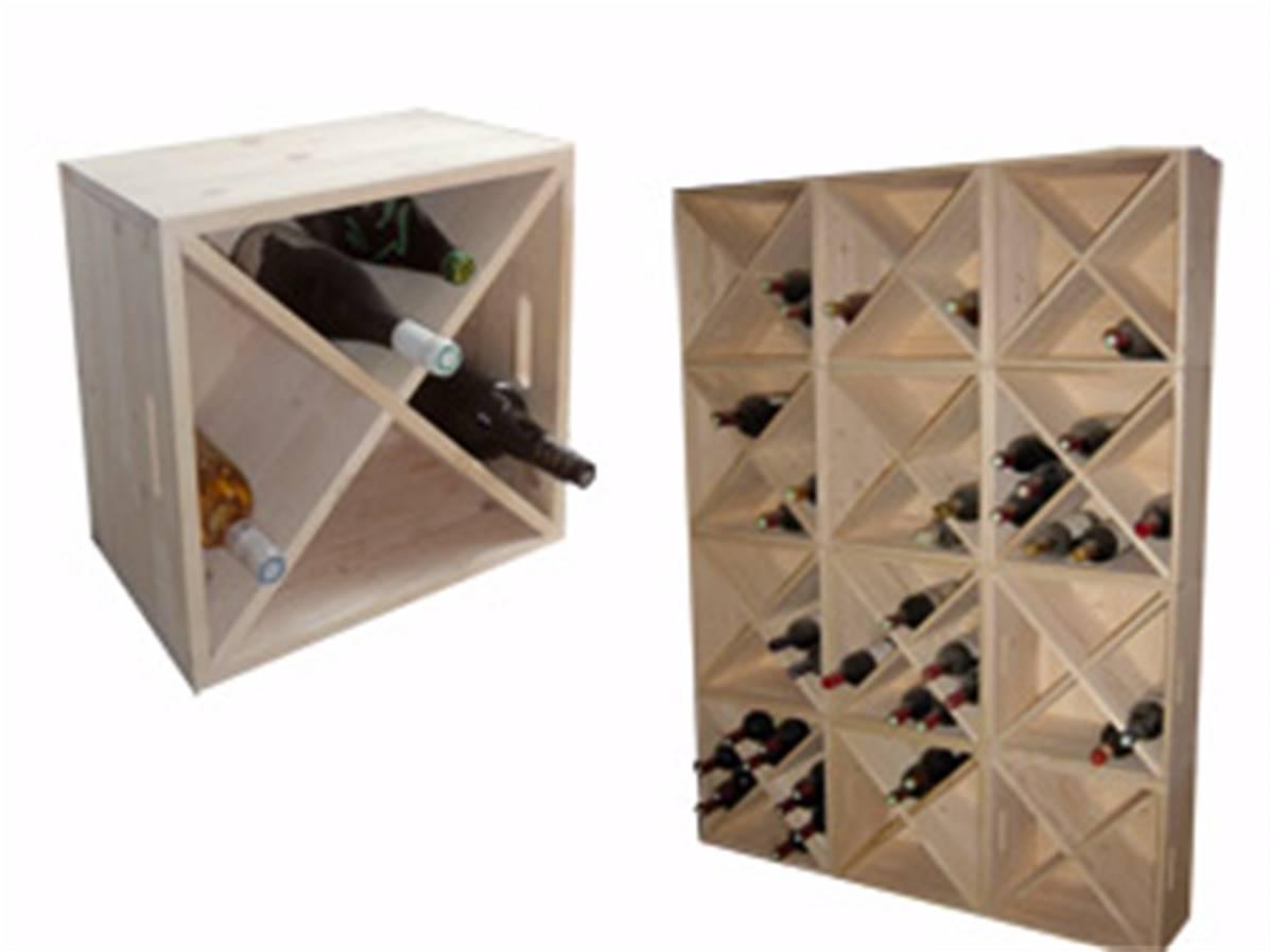 Rangement Pour Le Bois casier en bois pour rangement des bouteilles de vin (empilable)